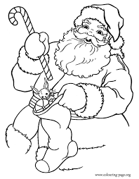 Small Picture Christmas Santa Claus holding gifts coloring page