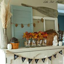 Decorating With Burlap Late Fall Mantel With Diy Burlap Feather Wrapped Mason Jars