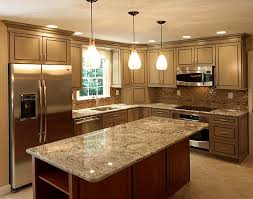 lighting above kitchen cabinets. This Kitchen Is Designed With Recessed Can Lights Around The Edge Of Cabinets And Pendant Lighting Above
