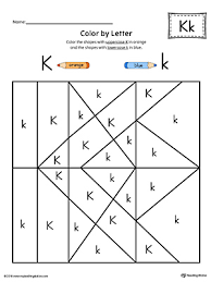 Color pictures, email pictures, and more with these alphabet coloring pages. Uppercase Letter K Color By Letter Worksheet Myteachingstation Com