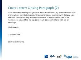Gallery Of Cover Letter Ending