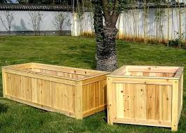 wooden planters boxes to build