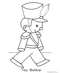 Toy Soldier Christmas Coloring Pages