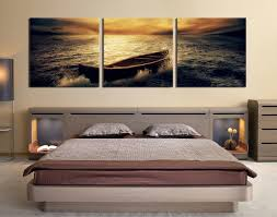 3 piece wall art ocean pictures bedroom wall decor yellow art boat on canvas wall art bedroom with 3 piece group canvas boat canvas wall art panoramic multi panel