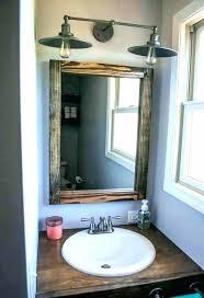 bathroom mirror decor update bathroom mirror update bathroom vanity bathroom vanity with s wood mirror and