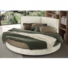 Modern design round upholstered double bed Rond Gliss