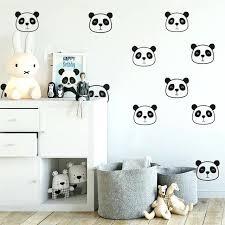 baby nursery wall decals for baby nursery panda cute face room sticker vinyl kids
