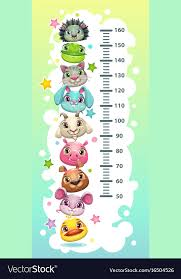 Height Chart Pictures Kids Height Chart Template With Funny Cartoon