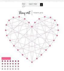 Free String Art Patterns New Heart String Art Template String Art Heart Patterns String Art Heart