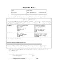 Separation Notice Free 9 Voluntary Separation Forms In Pdf Doc