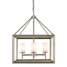 smyth 4 light white gold chandelier with opal glass shades