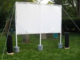 While inflatable screens designed for outdoor use from Open Air Cinema  start at $599, David Banks at GeekDad put together an excellent guide for  building a ...