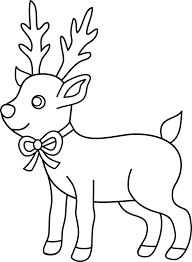 Christmas Baby Reindeer Coloring Pages