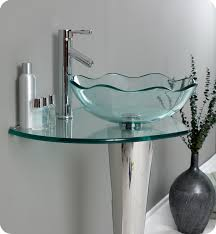 unique glass vessel sink design