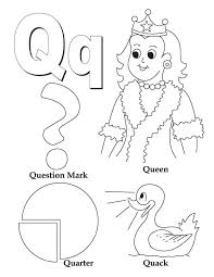 612x792 unusual letter q coloring page my a to z book