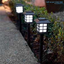 Combo đèn sân vườn năng lượng mặt trời chữ nhật - Đèn ngoài trời Nhãn hàng  No brand