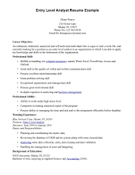 Entry Level Resumes Finance Resume Daniel Michener High Clerical