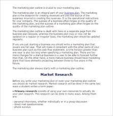 research paper outline word excel pdf format   market research paper outline template
