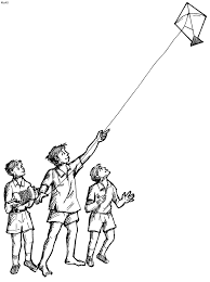 Small Picture Colouring Pages Kites Piglets kite coloring pages hellokidscom