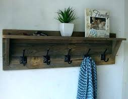 Wood Coat Racks Wall Mounted Unique Wall Shelf With Coat Hooks Wall Mounted Coat Rack With Shelf Wall