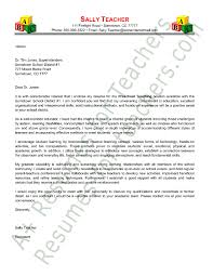 Preschool Teacher Cover Letter Sample Cover Letter For Preschool