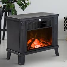 details about electric stove fireplace vintage rustic metal fire heater real flame effect warm