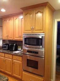 Brilliant Painting Oak Kitchen Cabinets White Intended Decorating Ideas