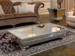 photo of silver round coffee table with silver circle coffee table coffee tables