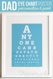 How To Make An Eye Chart Poster Diy Eye Chart Personalized Fathers Day Gift Shop