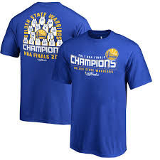 Branded State Youth Nba Royal 2017 Golden Warriors Roster T-shirt Finals Champions Fanatics
