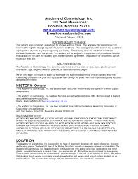 Resumes By Joyce Cosmetology Resume Samples Resume Joyce Resumes Photo Cosmetology 11