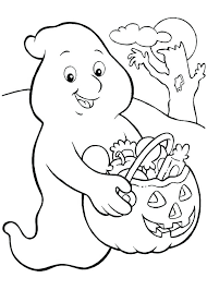 Ghost Coloring Pages Of Ghosts Scary Face