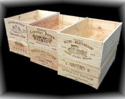 French Wine Crates, Wood Crates, Rustic Wedding Decor, Gift Card Box, Wine
