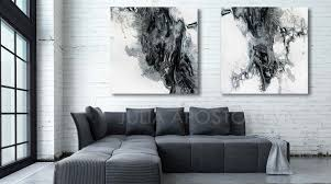 modern black white. Modern Black And White Abstract Print, Ready To Hang, Large Wall Art, Print I