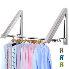 Wall mounted clothing rails Chrome Livehitop Foldable Wall Mounted Clothes Rail Pieces Coat Hanger Racks Dryer Aluminum Hanging Rod Amazon Uk Livehitop Foldable Wall Mounted Clothes Rail Pieces Coat Hanger