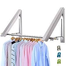 Chrome Livehitop Foldable Wall Mounted Clothes Rail Pieces Coat Hanger Racks Dryer Aluminum Hanging Rod Amazon Uk Livehitop Foldable Wall Mounted Clothes Rail Pieces Coat Hanger