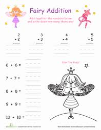 Fairy Addition: Doubles Facts | Coloring Page | Education.comFirst Grade Addition Fairies Worksheets: Fairy Addition: Doubles Facts