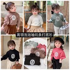 Áo sweater cổ lọ tay dài nhiều màu tùy chọn đáng yêu thời trang mùa đông  cho bé gái từ 3 - 8 tuổi chính hãng
