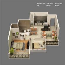 Small 2 Bedroom Home Plans 50 3d Floor Plans Lay Out Designs For 2 Bedroom House Or Apartment