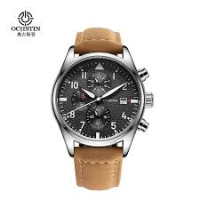 online get cheap trendy mens watch aliexpress com alibaba group fashion ochstin quartz watches 3atm water resistant analog men s watches luxury genuine leather strap trendy man
