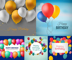 Free Birthday Backgrounds Happy Birthday Backgrounds With Balloons Vector Free