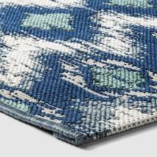 ikat cool outdoor rug blue threshold