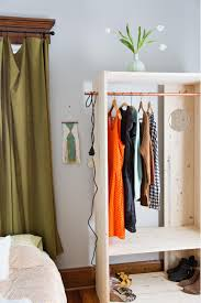 wooden clothing rack hanging closet organizer with drawers five hooks towel clothes hat bag over door