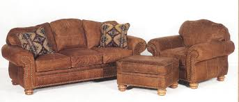 distressed leather sofa chair and ottoman