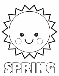 Small Picture Springtime coloring sheets Spring sun Free printable Spring