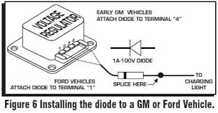 how to install an msd a digital ignition module on your  early ford and gm to solve the run on problem a diode is supplied the msd in the parts bag by installing this diode in line of the wire that goes to