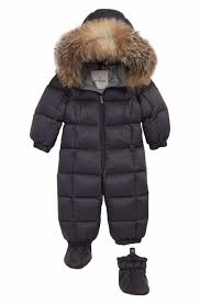 Moncler Jean Down Bunting with Genuine Fox Fur Trim (Baby Girls)