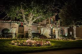 traditional white lights lighted garland and wreaths from the perfect light in dallas