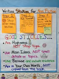 Writing Sticky Notes For Non Fiction Texts 3rd Grade Lucy