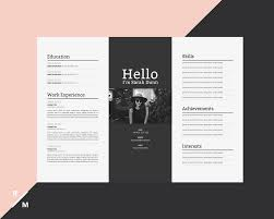 Creative Resume Template Horizontal Landscape Modern Professional Resume Simple Resume Digital Download